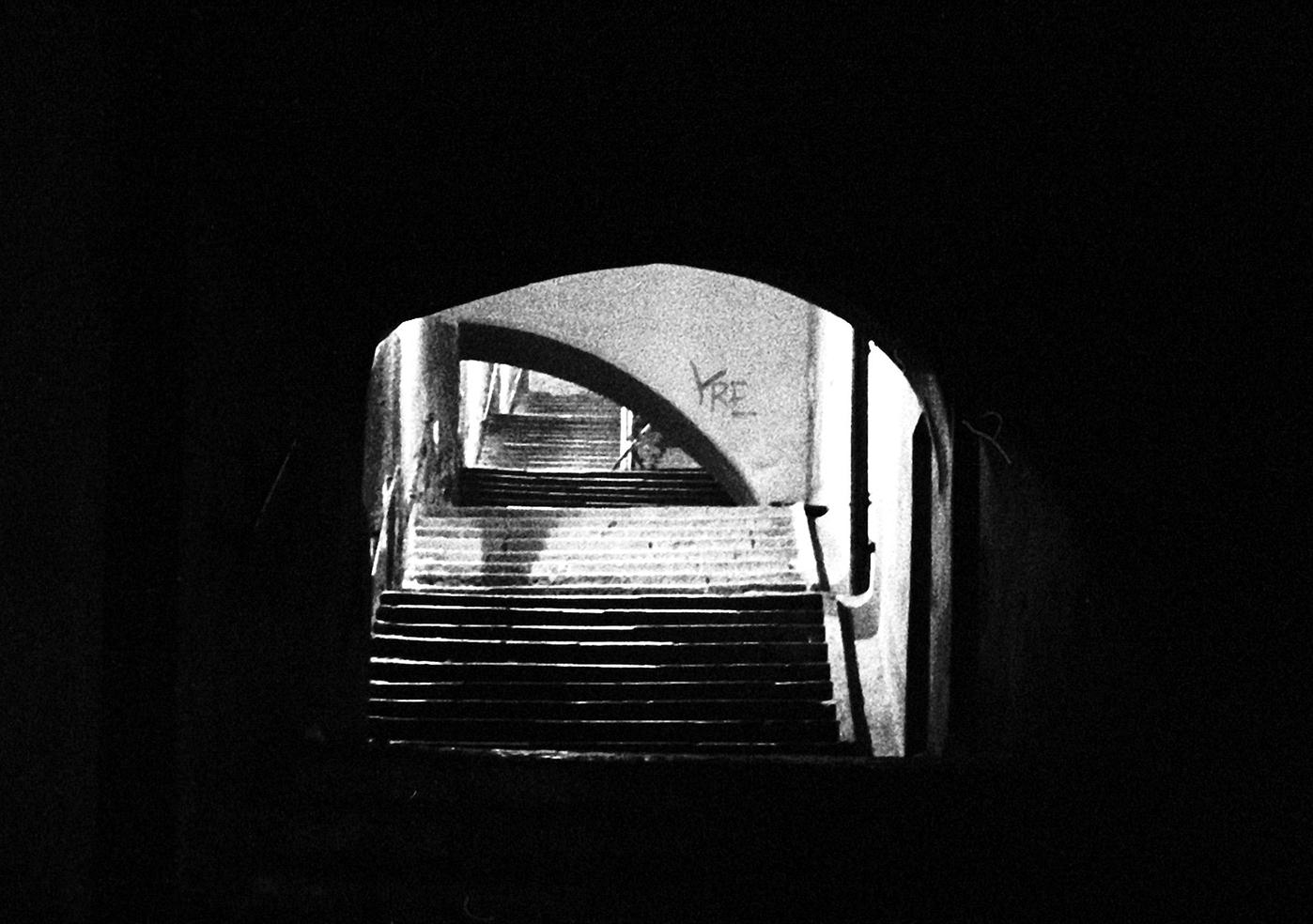 Nächtliche Treppe