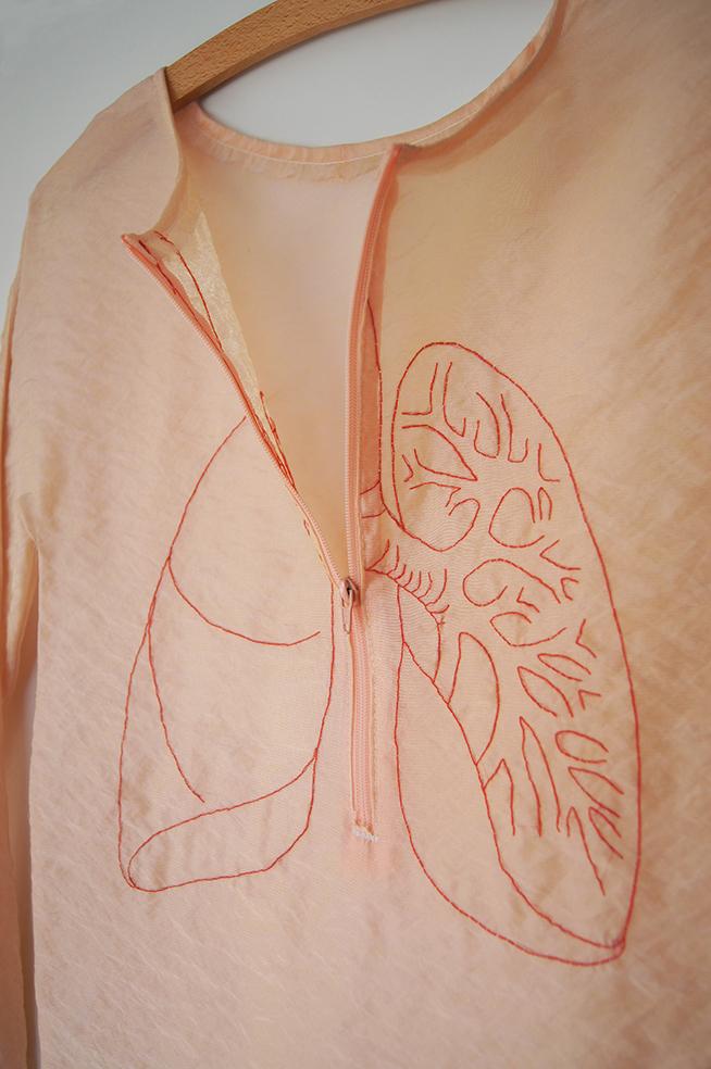 Genähte Lunge Detail
